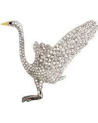 Brooks Brothers Audubon Crane Crystal Brooch - Lyst