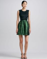 Erin Erin Fetherston Lacebodice Combo Party Dress Stylist Pick - Lyst