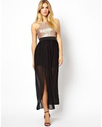 Love Dress with Sequin Top - Lyst