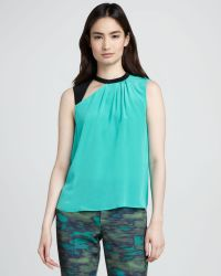 Nanette Lepore Mercury Cut Out Silk Top - Lyst