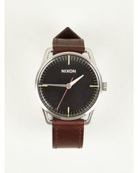 Nixon Mens Mellor Leather Watch - Lyst
