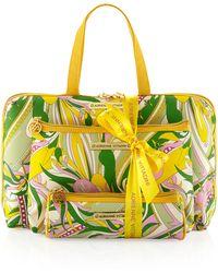 Adrienne Vittadini - Threepiece Printed Cosmetic Bag Set - Lyst