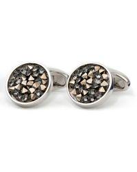 Black.co.uk - Swarovski Crystal Explosion Cuff Links - Lyst