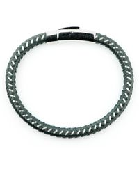 Black.co.uk - Grey Cord And Stainless Steel Bracelet - Lyst