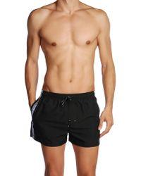 Calvin Klein Black Swimming Trunks - Lyst