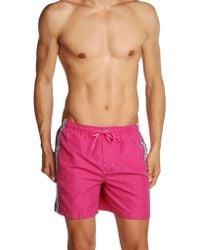 Calvin Klein Pink Swimming Trunks - Lyst