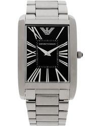 Emporio Armani Black Wrist Watch - Lyst