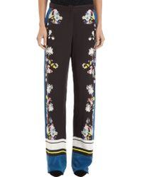 Erdem Border Striped and Floral Print Relaxed Pants - Lyst