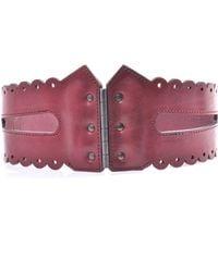 McQ by Alexander McQueen Scalloped Edge Corsette Belt - Lyst