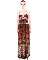 Pull&Bear Print Maxi Dress - Lyst