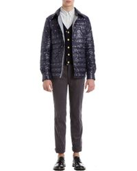 Thom Grey Snowflake and Flag Embroidered Quilted Jacket - Lyst