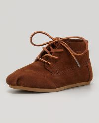 TOMS Suede Moccasin Boot Chocolate - Lyst