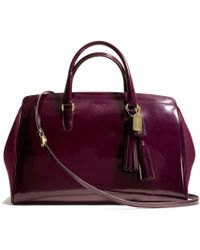 Coach Legacy Pinnacle Large Lowell Satchel in Polished Calf Leather with Felt - Lyst