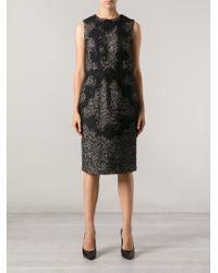 Dolce & Gabbana Floral Lace Detail Dress - Lyst