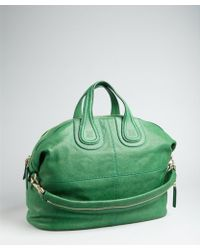 Givenchy Emerald Leather Nightingale Medium Convertible Tote - Lyst