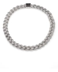 John Hardy Classic Chain Black Sapphire & Sterling Silver Medium Braided Necklace - Lyst