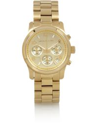 Michael Kors Gold-Plated Watch - Lyst