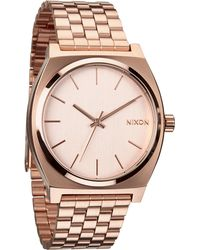 Nixon Time Teller Rose Goldtone Stainless Steel Watch - Lyst