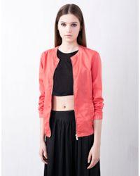 Pull&Bear Basic Cotton Jacket - Lyst