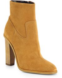 Saint Laurent Hunt Suede Ankle Boots - Lyst