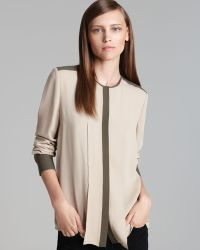 Theory Blouse Edera Cc Double Georgette - Lyst