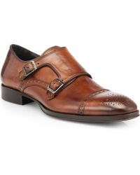 To Boot - Astor Leather Double Monk Strap Slipons - Lyst