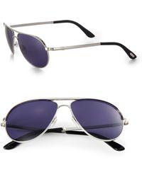 Tom Ford Marko 58Mm Aviator Sunglasses - Lyst