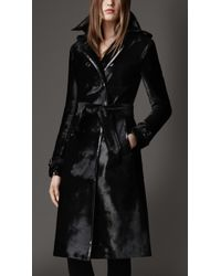 Burberry Long Patent Taped Calfskin Trench Coat - Lyst