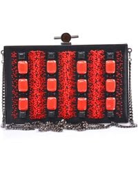 Jason Wu - Bead Embellished Satin Box Clutch - Lyst