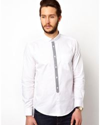 Simon Carter - Merc Shirt with Contrast Placket - Lyst