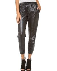 StyleStalker - Hoop Dreams Faux Leather Trousers - Lyst