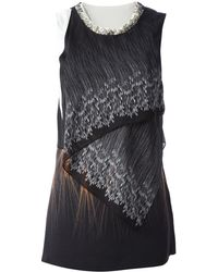 3.1 Phillip Lim Wheat Print Draped Sleeveless Blouse - Lyst