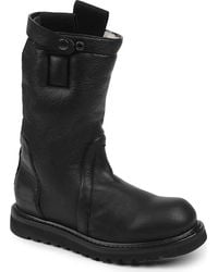Alexander McQueen Button Leather Boots - Lyst