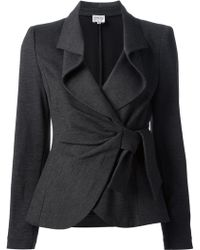 Armani Knotted Skirt Suit - Lyst
