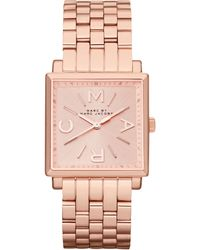 Marc By Marc Jacobs Womens Truman Rose Goldtone Stainless Steel Bracelet 30mm - Lyst