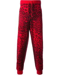 Sibling - Leopard Print Trackpant - Lyst
