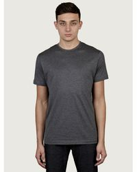 Sunspel Mens Grey Short Sleeve Crew Neck T-shirt - Lyst