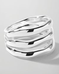Ippolita - Sterling Silver Smooth 3-Layer Ring - Lyst