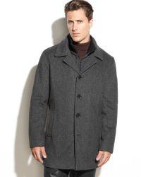 Calvin Klein Woolblend Walker Coat - Lyst
