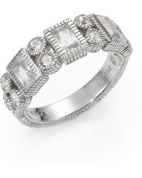 Judith Ripka White Topaz White Sapphire and Sterling Silver Ring - Lyst