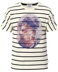 Marc Jacobs Bast Faceprint Striped T shirt - Lyst