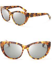Rebecca Minkoff - Stanton Studded Cat Eye Sunglasses - Lyst
