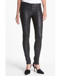 Vince Leather Moto Pants - Lyst