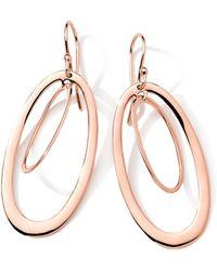 Ippolita 18K Rose Gold Double-Oval Earrings - Gold - Lyst