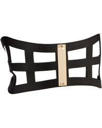 Asos Wide Cage Plate Waist Belt - Lyst