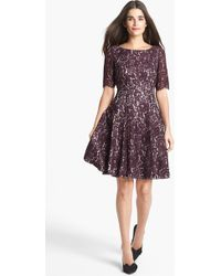 Eliza J Lace Fit Flare Dress - Lyst