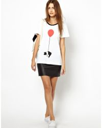 Hipanema - Mother Of Pearl Jersey Tshirt with Pig and Balloon Print - Lyst
