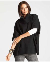 Ann Taylor Merino Wool Blend Poncho - Lyst