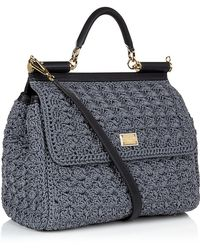 Dolce & Gabbana - Miss Sicily Classic Crochet Bag - Lyst