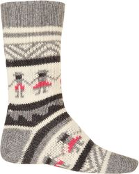 Folk - Grey People Knit Socks - Lyst